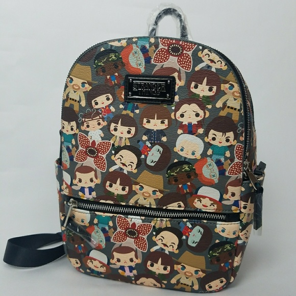 Loungefly Stranger Things Chibi Mini Backpack NEW NWT